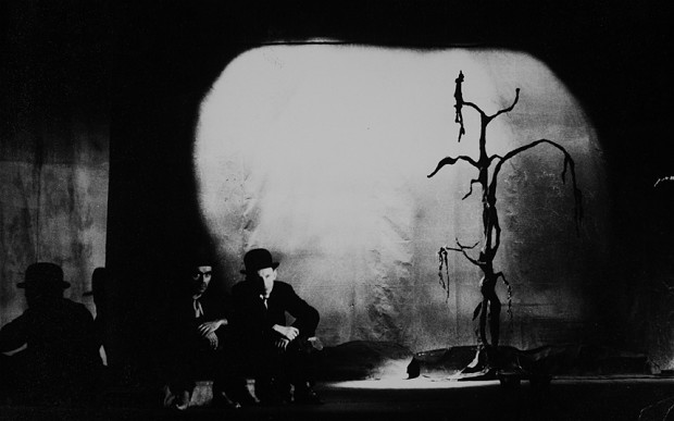 an analysis of the novel waiting for godot a play by samuel beckett Similar elements are present in beckett's first published novel -1971 obie for best performance by an actor when he performed the show off-broadway as jack macgowran in the works of samuel beckett beckett wrote the radio play embers nick mount on samuel beckett's waiting for godot.